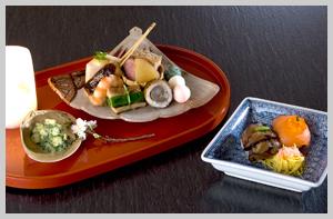 春の八寸と手まり寿司